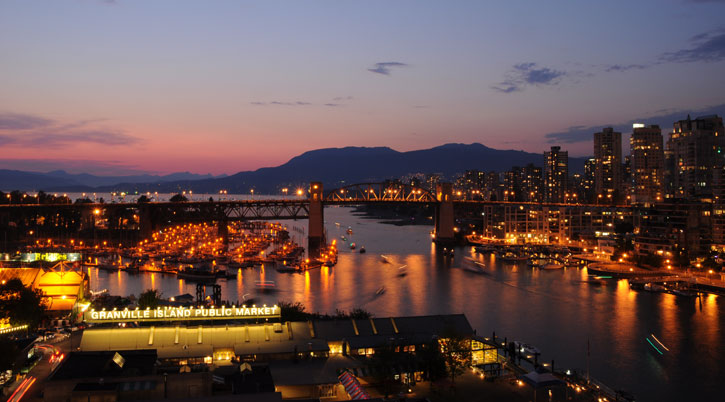 Photography - Granville Island at Night