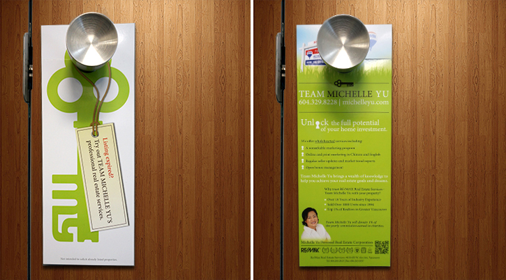 Collaterals - Michelle Yu (RE/MAX) Door Hanger